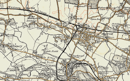 Old map of Chalvey in 1897-1909