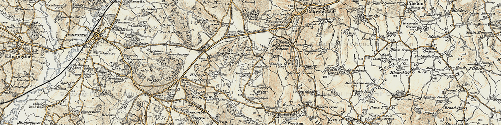 Old map of Wootton Hill in 1898-1899