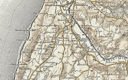 Old map of Abermad in 1901-1903