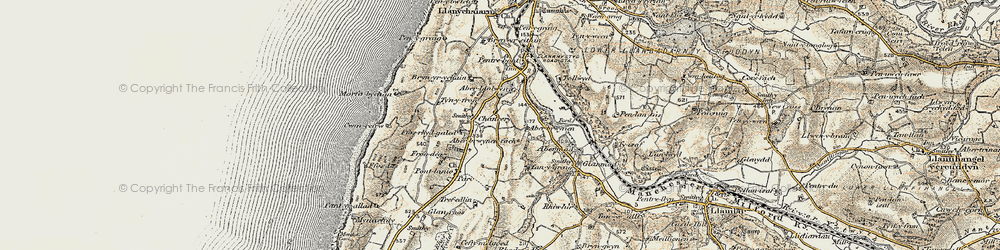 Old map of Chancery in 1901-1903