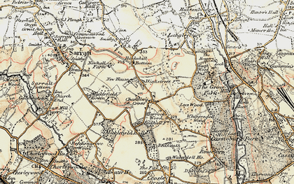 Old map of Chandler's Cross in 1897-1898