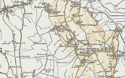 Old map of Allerton Moor in 1899-1900