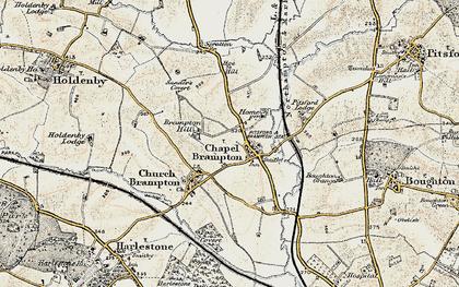 Old map of Chapel Brampton in 1901