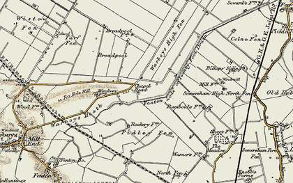 Old map of Tick Fen in 1901