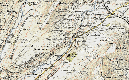 Old map of Winterscales Beck in 1903-1904