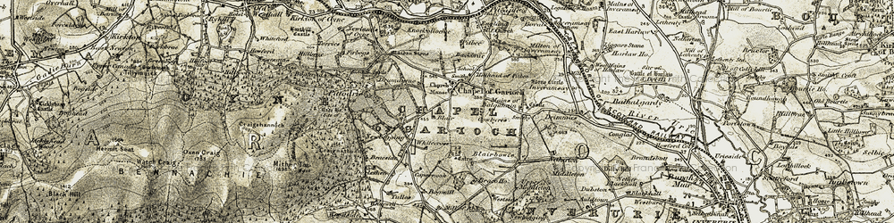 Old map of Whitecross in 1909-1910