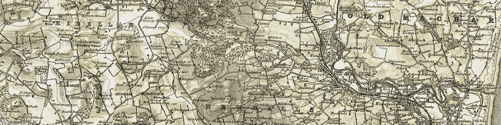 Old map of Wynford in 1909