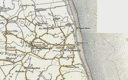 Old map of Chapel St Leonards in 1902-1903