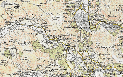 Old map of Lang How in 1903-1904