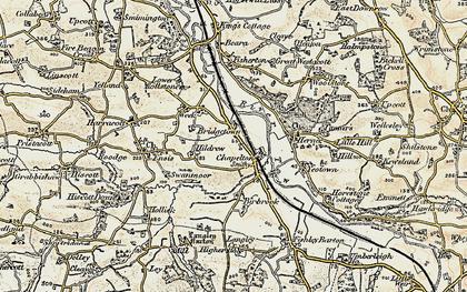 Old map of Westacott in 1900