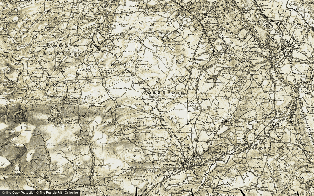 Old Map of Historic Map covering Bankfield in 1904-1905