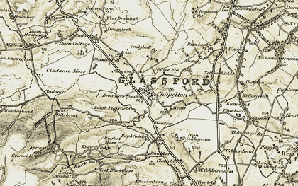 Old map of Bankfield in 1904-1905