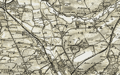 Old map of Westfield in 1907-1908