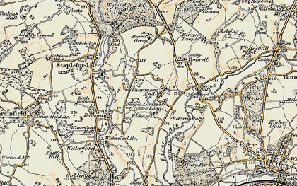 Old map of Chapmore End in 1898-1899