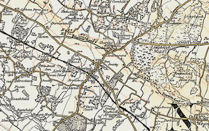 Old map of Charing in 1897-1898