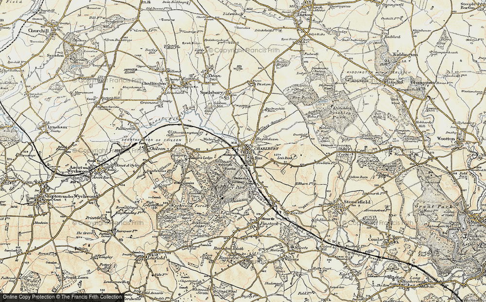 Old Map of Historic Map covering Lee's Rest in 1898-1899