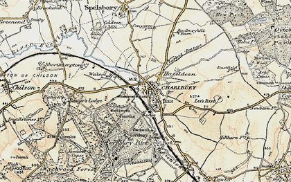 Old map of Lee's Rest in 1898-1899
