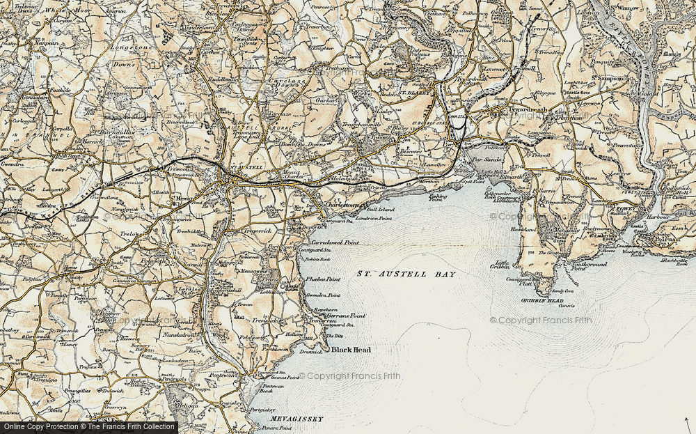 Old Map of Charlestown, 1900 in 1900