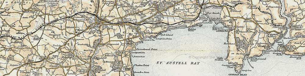 Old map of Charlestown in 1900