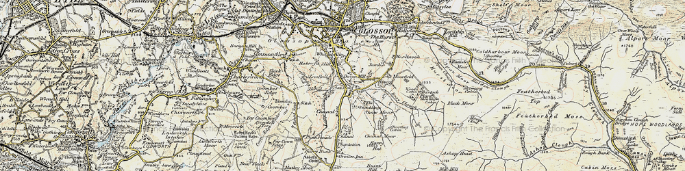 Old map of Whiteley Nab in 1903