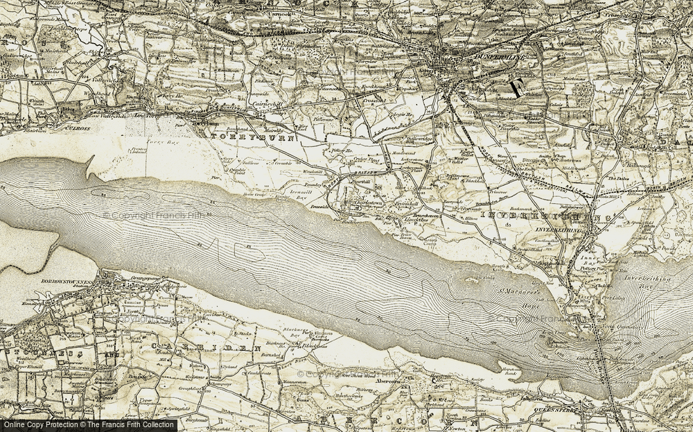 Old Map of Historic Map covering Aberlyn in 1904-1906