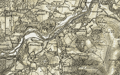 Old map of Charlestown of Aberlour in 1908-1911