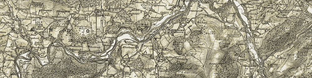 Old map of Wester Elchies in 1908-1911