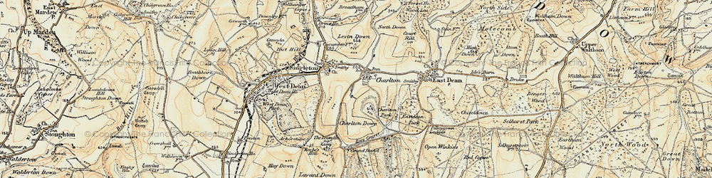 Old map of Charlton in 1897-1899