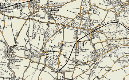 Old map of Charlton in 1897-1909