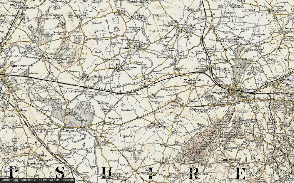 Old Map of Historic Map covering Lees, The in 1902