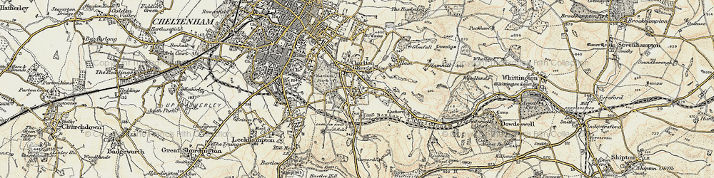 Old map of Charlton Kings in 1898-1900
