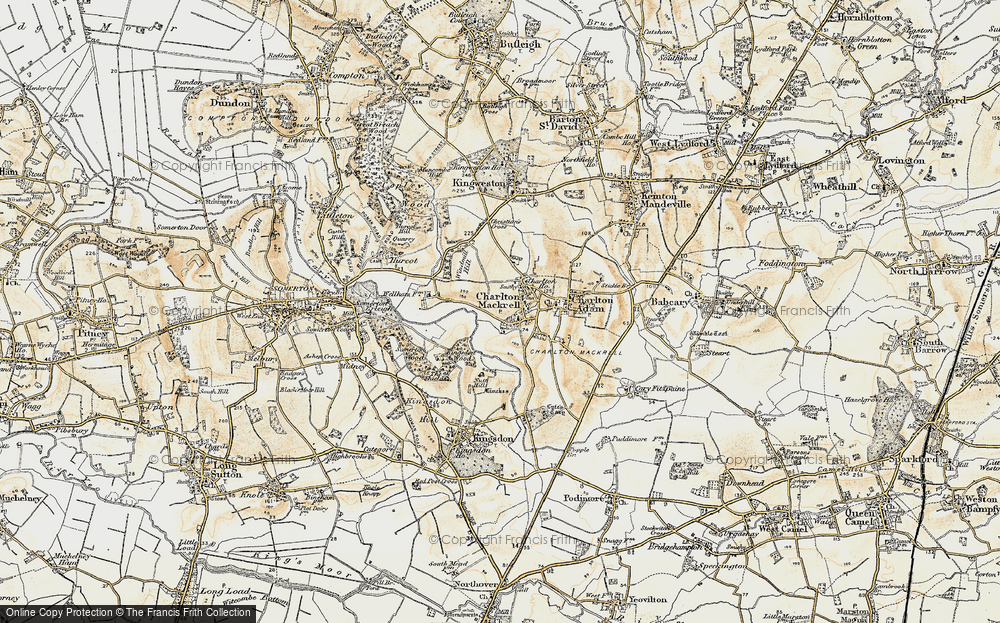Old Map of Charlton Mackrell, 1899 in 1899