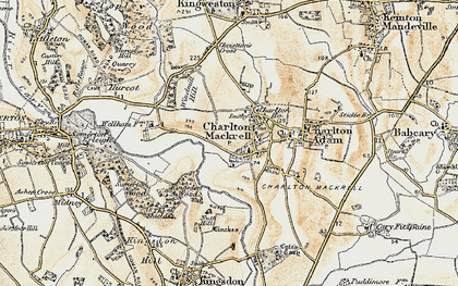 Old map of Charlton Mackrell in 1899
