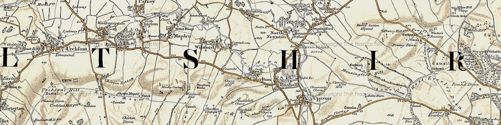 Old map of Wilsford Hill in 1897-1899