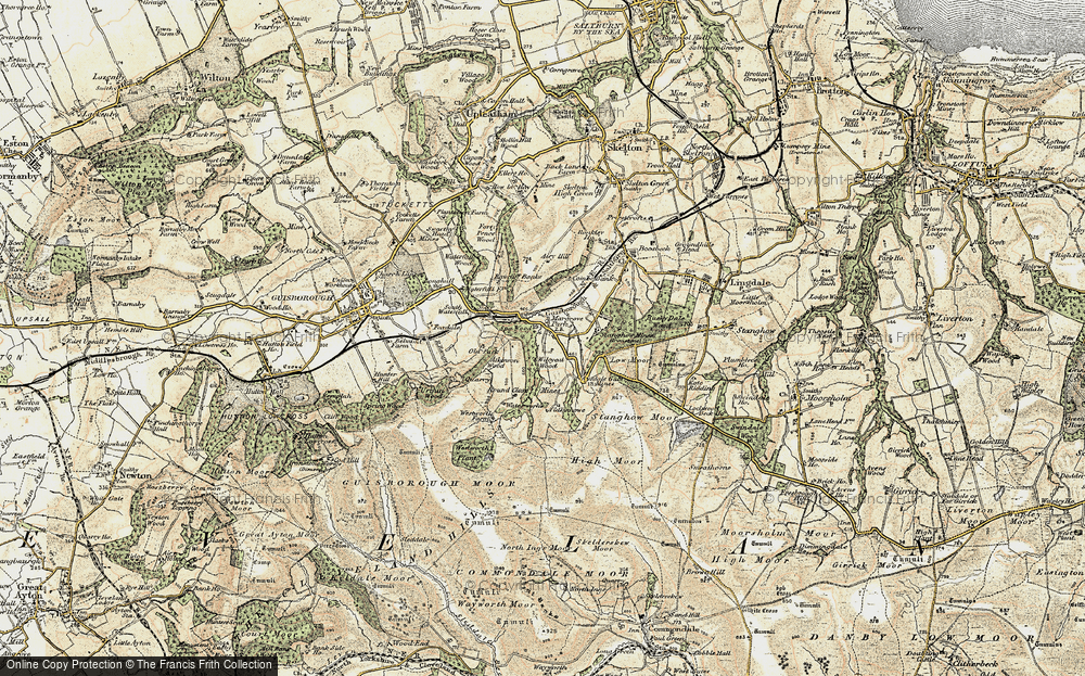 Old Map of Historic Map covering Westworth Wood in 1903-1904