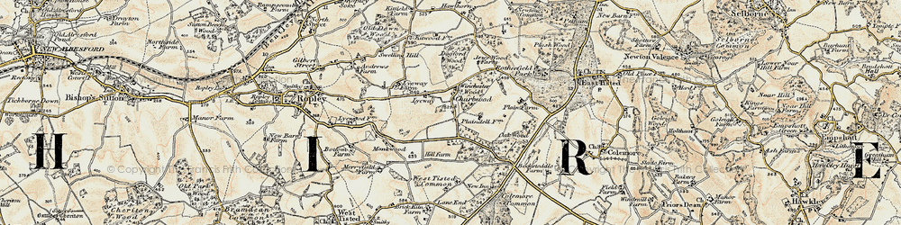 Old map of Winchester Wood in 1897-1900