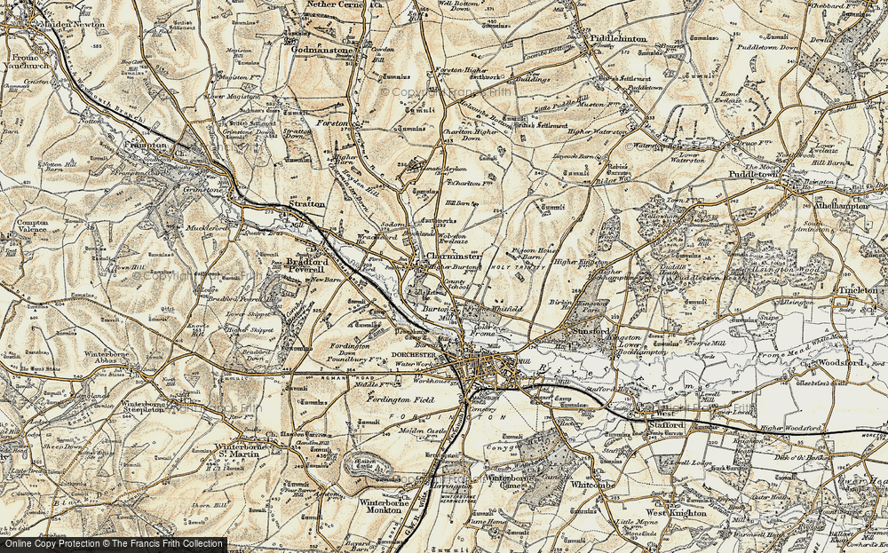 Old Map of Historic Map covering Leap Gate in 1899