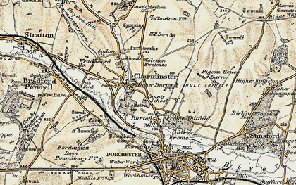 Old map of Wolfeton Ho in 1899
