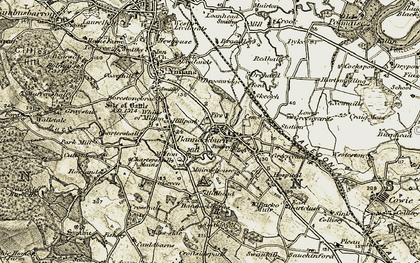 Old map of Chartershall in 1904-1907