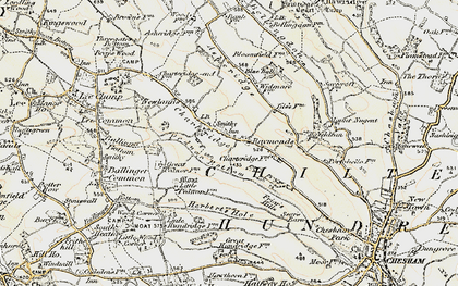 Old map of Chartridge in 1897-1898
