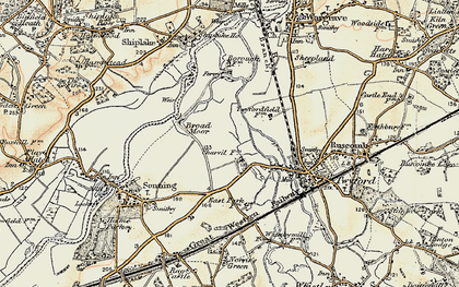 Old map of Charvil in 1897-1909