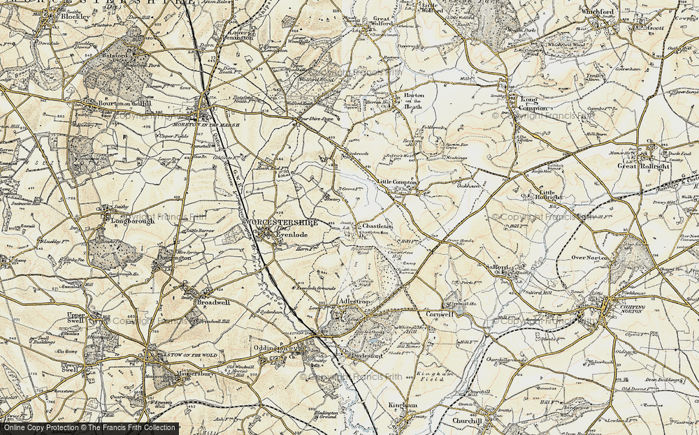 Old Map of Chastleton, 1899 in 1899