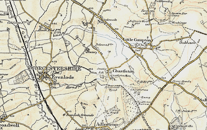 Old map of Chastleton in 1899