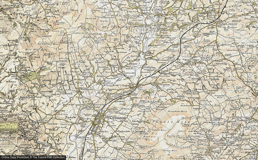 Old Map of Chatburn, 1903-1904 in 1903-1904