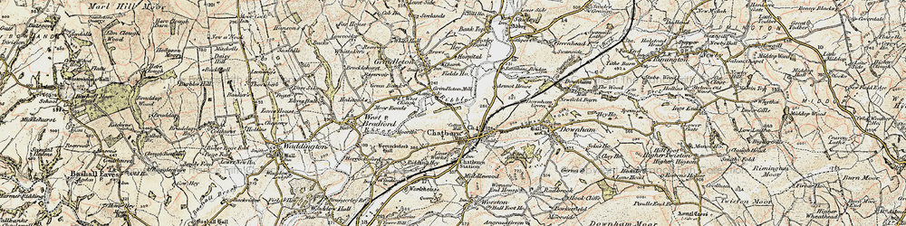 Old map of Chatburn in 1903-1904