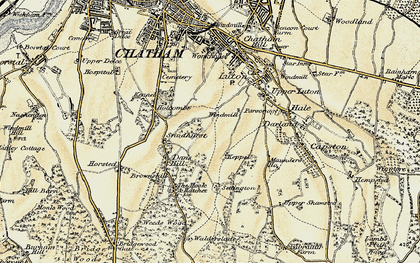 Old map of Chatham in 1897-1898