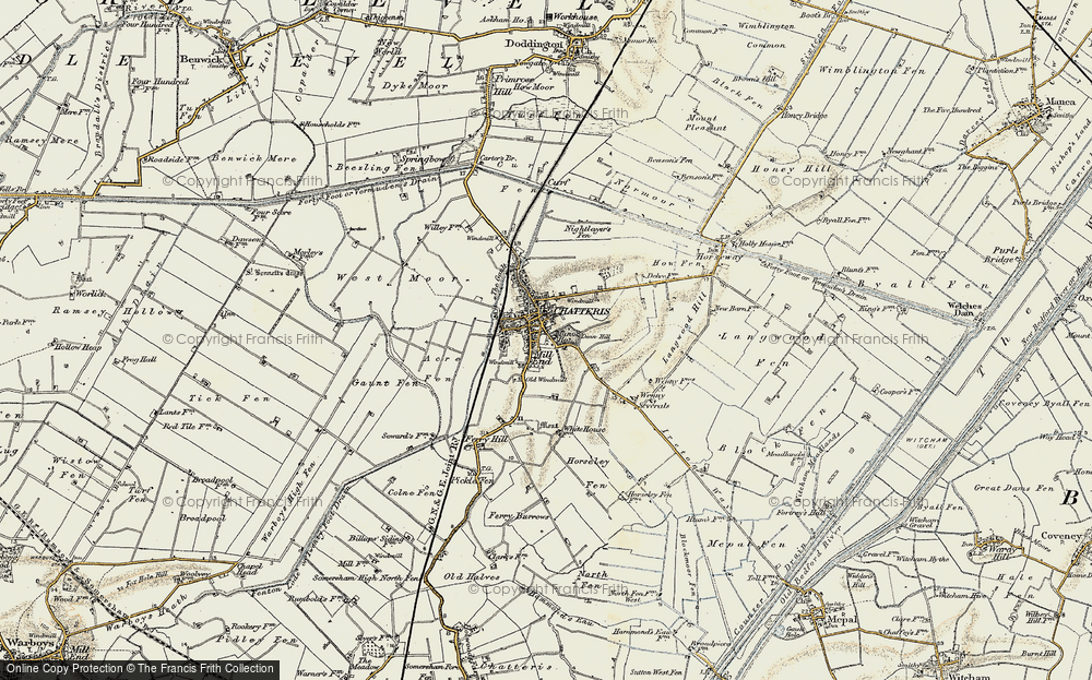 Old Map of Chatteris, 1901 in 1901
