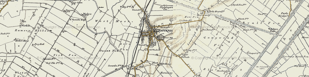 Old map of Chatteris in 1901