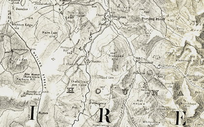 Old map of Yett, The in 1901-1904