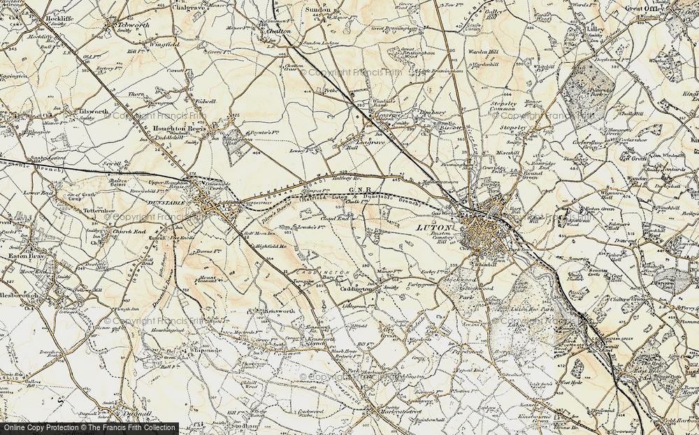 Old Map of Chaul End, 1898-1899 in 1898-1899